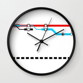 Transportation (Instructions and Code series) Wall Clock