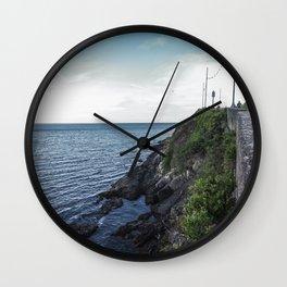 Along the sea in Ireland Wall Clock