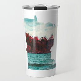 Minnesota-Split Rock Lighthouse at Lake Superior Travel Mug