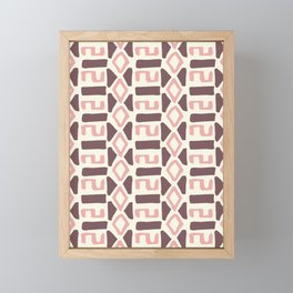 Pink Fall Tribal #society6 #tribal Framed Mini Art Print