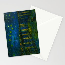 Starry Night Over the Rhône 1888 oil on canvas by Vincent van Gogh Stationery Cards
