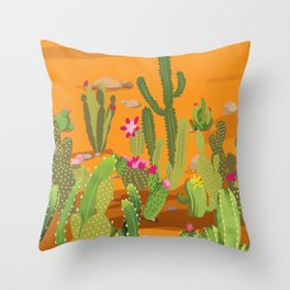 Cactus Variety 5 Throw Pillow