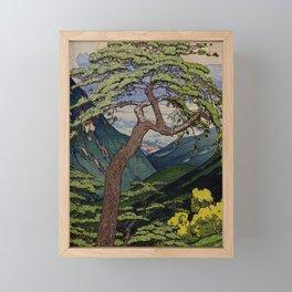 The Downwards Climbing Framed Mini Art Print
