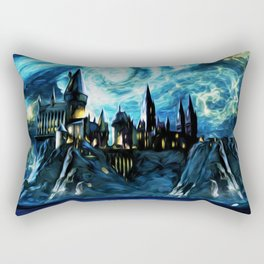 Starry Night Hogwarts Rectangular Pillow