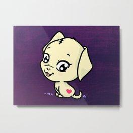 Cute Puppy Dog Metal Print