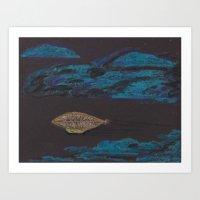 SteamPunkBlimp4 Art Print
