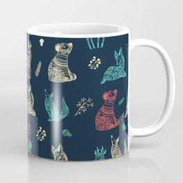 Cute Whimsical Forest Animals Pattern Coffee Mug