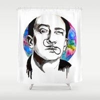dali Shower Curtains featuring Dali by Clementine Petrova