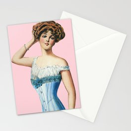 OLD FASHION PINK HOMEMADE PATTERN  Stationery Cards