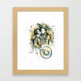 Kiss Charro Framed Art Print