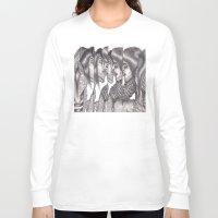 boys Long Sleeve T-shirts featuring Boys Boys Boys by Emiliano del Toro