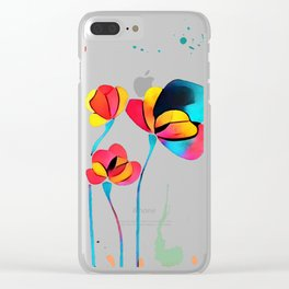Exotic Watercolor Flower Clear iPhone Case