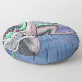Spirited Away - Sen and Haku Landscape Artwork Floor Pillow