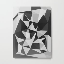 black and white wall Metal Print