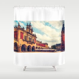 Cracow Main Square Old Town Shower Curtain