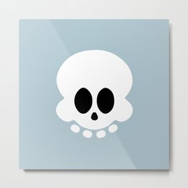 Skully light blue version Metal Print