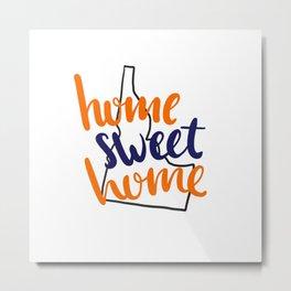 Home Sweet Home-Boise State Metal Print