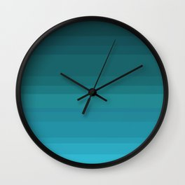 Hues of Green Ombre Daydream Wall Clock
