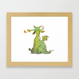 Silly dragon Framed Art Print