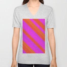 Vibrant pink Unisex V-Neck