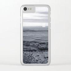 Beach Blues Clear iPhone Case