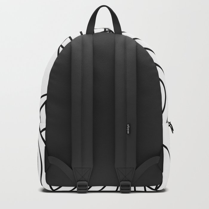 Whackadoodle White and black Backpack
