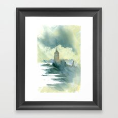 Maiden's Tower, Istanbul Framed Art Print