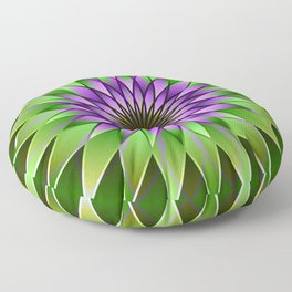 Lavender lotus mandala Floor Pillow