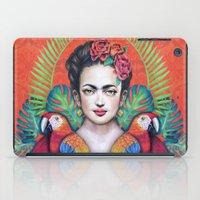 frida iPad Cases featuring Frida by alesaenzart