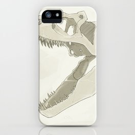 Allosaurus skull iPhone Case