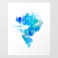 Escape from town Art Print