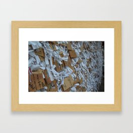Wish Boards & Fortunes - Shrine at the foot of the mountain Framed Art Print