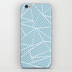 Ab Lines Sky Blue iPhone & iPod Skin