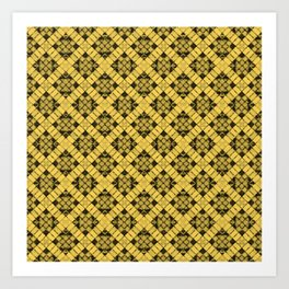 Primrose Yellow Patchwork Art Print