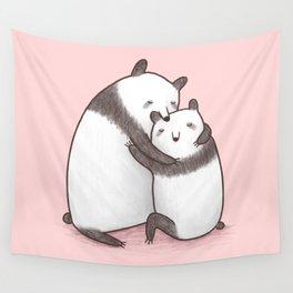 Panda Cuddle Wall Tapestry