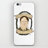 dwight schrute iPhone & iPod Skins featuring Dwight Schrute by Rhian Davie