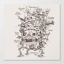 Howl's Moving Castle Plan Canvas Print