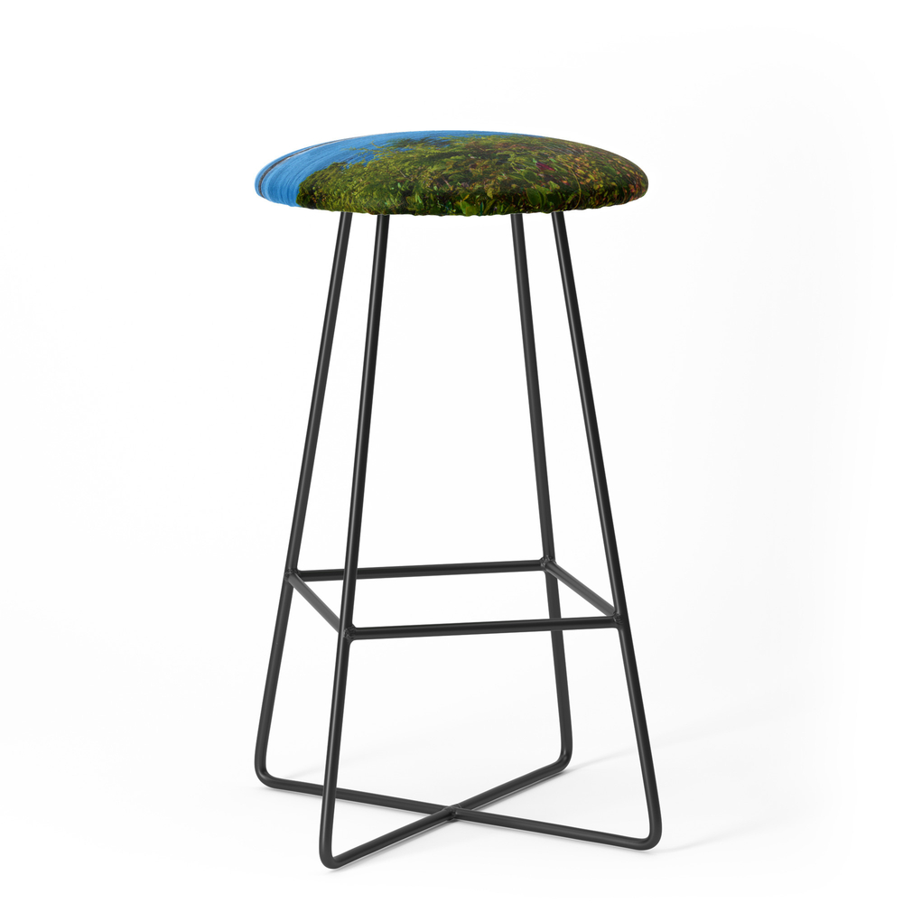 The Pacific Ocean As Seen From The Wild Pacific Trail On Ucluelet, Bc Bar Stool by western_wanderlust