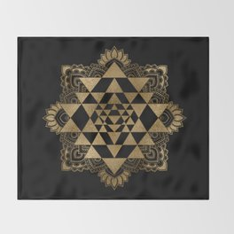 Sri Yantra  / Sri Chakra Throw Blanket