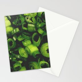 Sliced ring pieces of green onion Stationery Cards