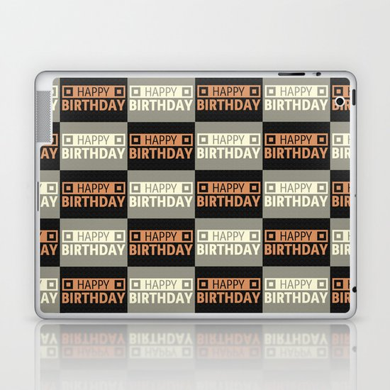 Happy Birthday Laptop & iPad Skin