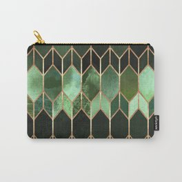 Stained Glass 5 - Forest Green Carry-All Pouch