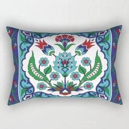 Turkish Tile Pattern – Vintage iznik ceramic with tulips Rectangular Pillow