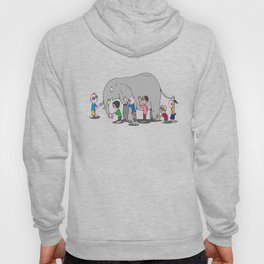 Blind Men and an Elephant Famous Story Tale Design Hoody