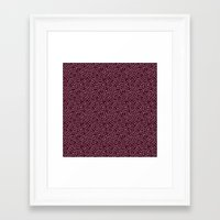 burgundy Framed Art Prints featuring Burgundy by Lisi Fkz