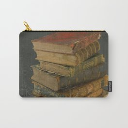 GRUBY SHABBY CHIC ANTIQUE LIBRARY BOOKS Carry-All Pouch