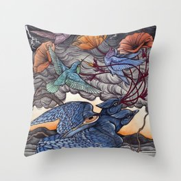 Together We Face The Storm Throw Pillow