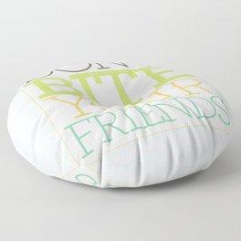 Don't Bite Your Friends Floor Pillow