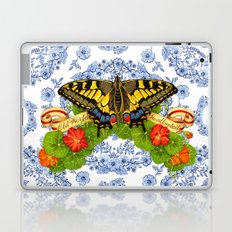 Swallowtail Butterfly and Blue Rhapsody Laptop & iPad Skin