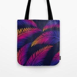 Neon Leaves Tote Bag